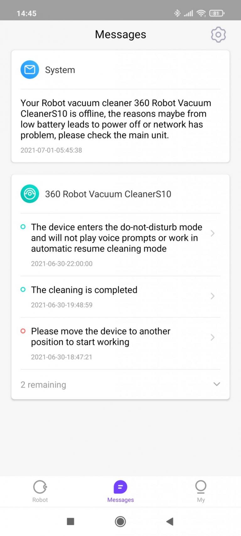 360 S10 robotporszívó teszt 31