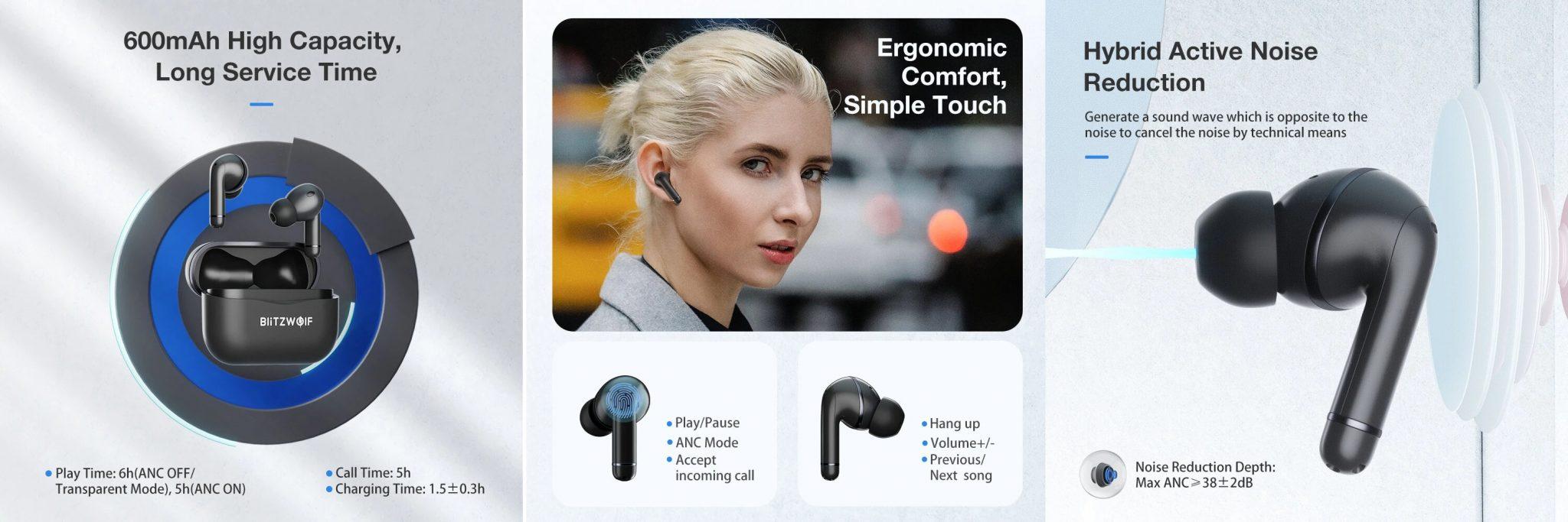 BlitzWolf BW-ANC3 fülhallgató teszt 8