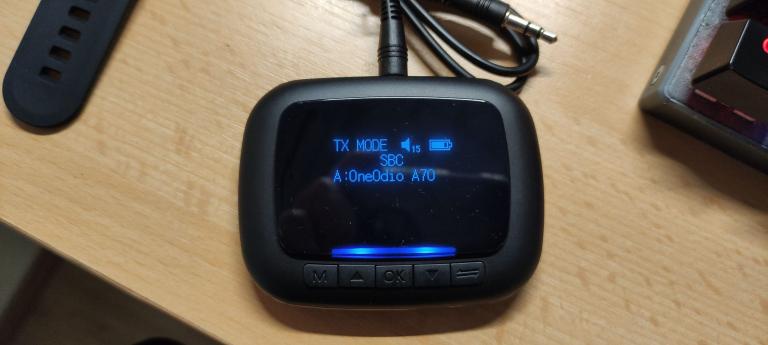 BlitzWolf BW-BR6 Bluetooth transzmitter teszt 6