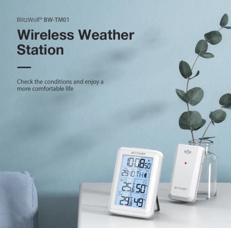 Rekord alacsony áron vihető a BlitzWolf időjárás állomása 2