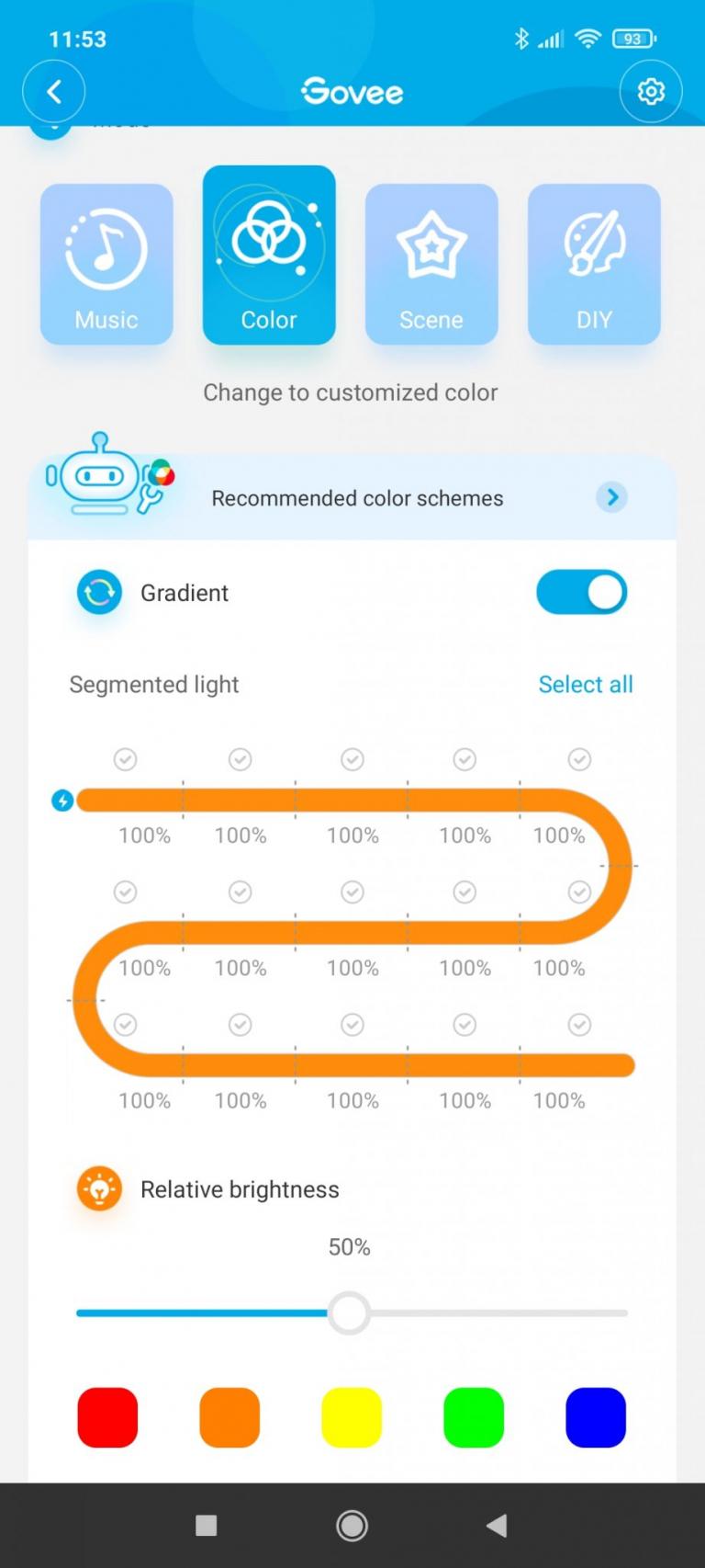 Govee programozható LED szalag teszt 22