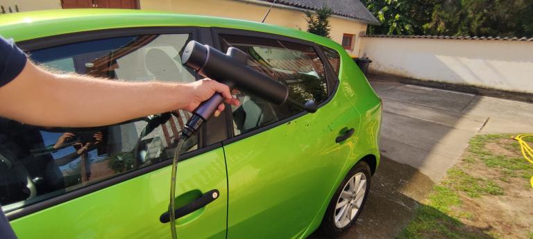 Baseus akkumulátoros magasnyomású mosó teszt 33