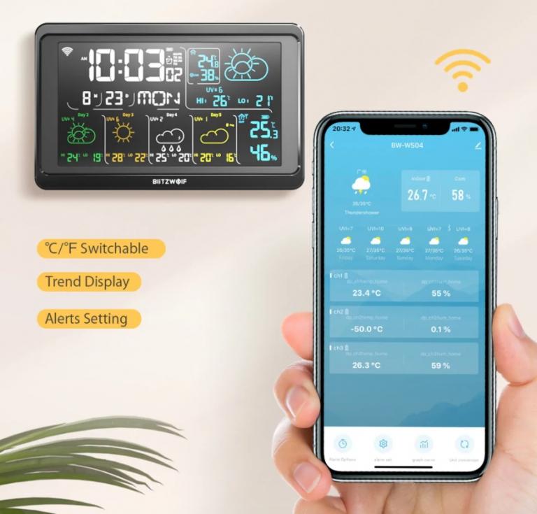 Végre egy újabb WiFi-s időjárás állomást csinált a BlitzWolf 4