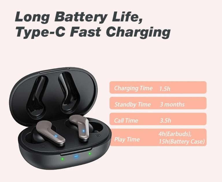 Szuper olcsó az Airaux AA-UM4 Pro TWS fülhallgató 5