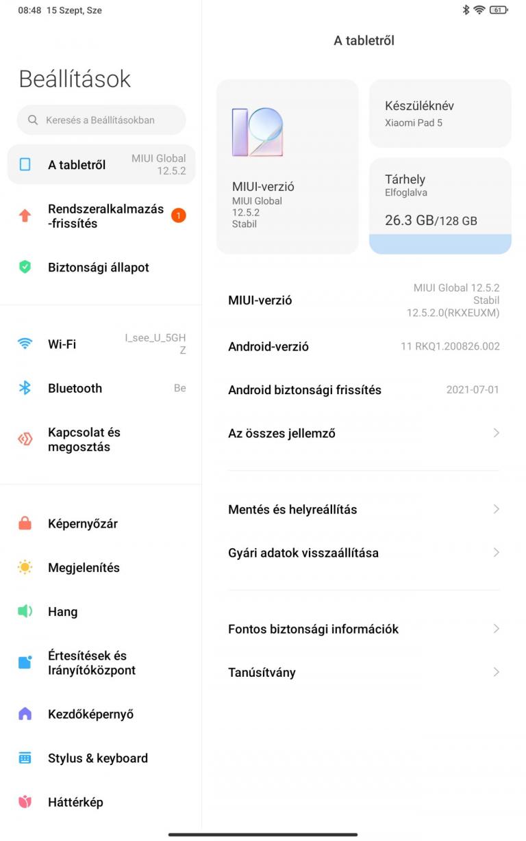 Xiaomi Pad 5 (Global version) tablet teszt 18