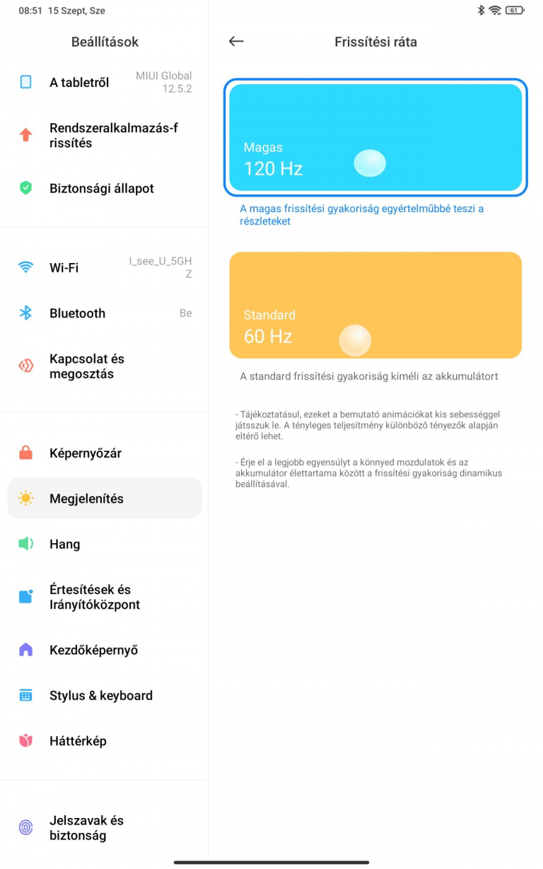 Xiaomi Pad 5 (Global version) tablet teszt 21